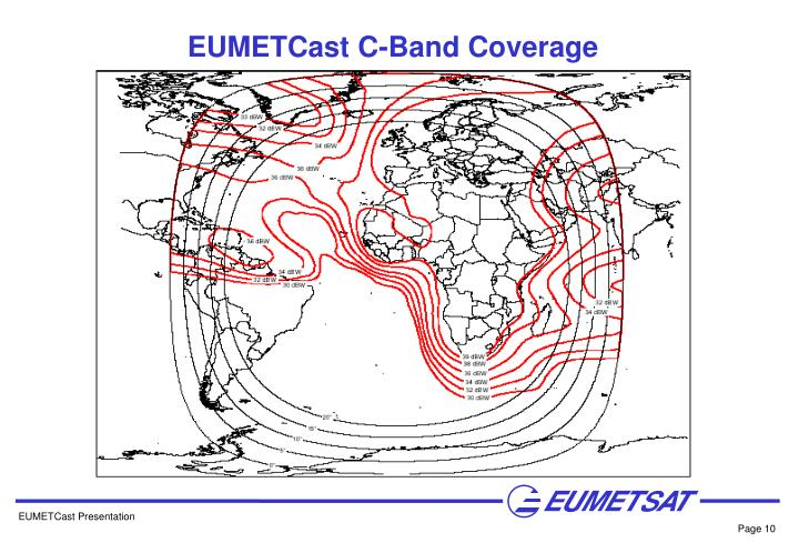 EUMETCast C-Band Coverage