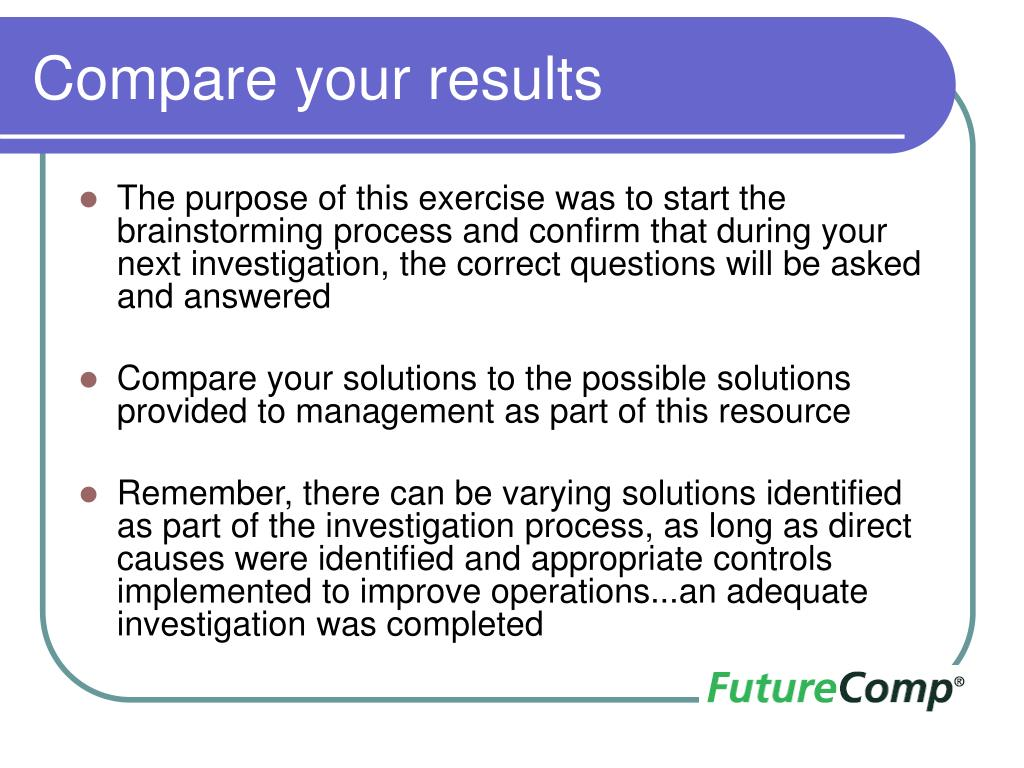 Compare your results