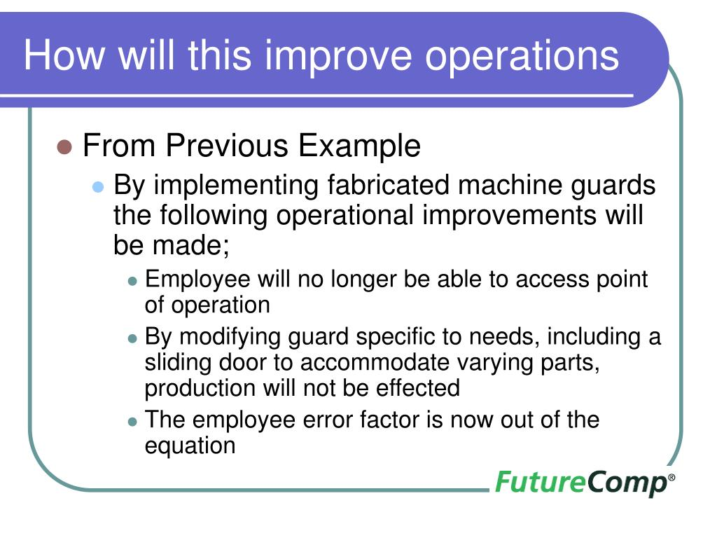 How will this improve operations