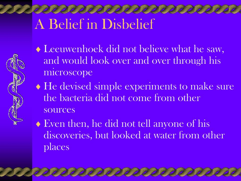 A Belief in Disbelief