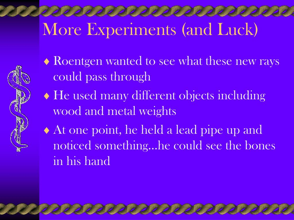 More Experiments (and Luck)