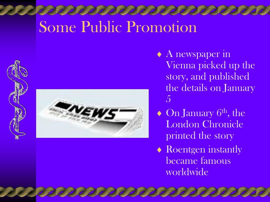 Some Public Promotion