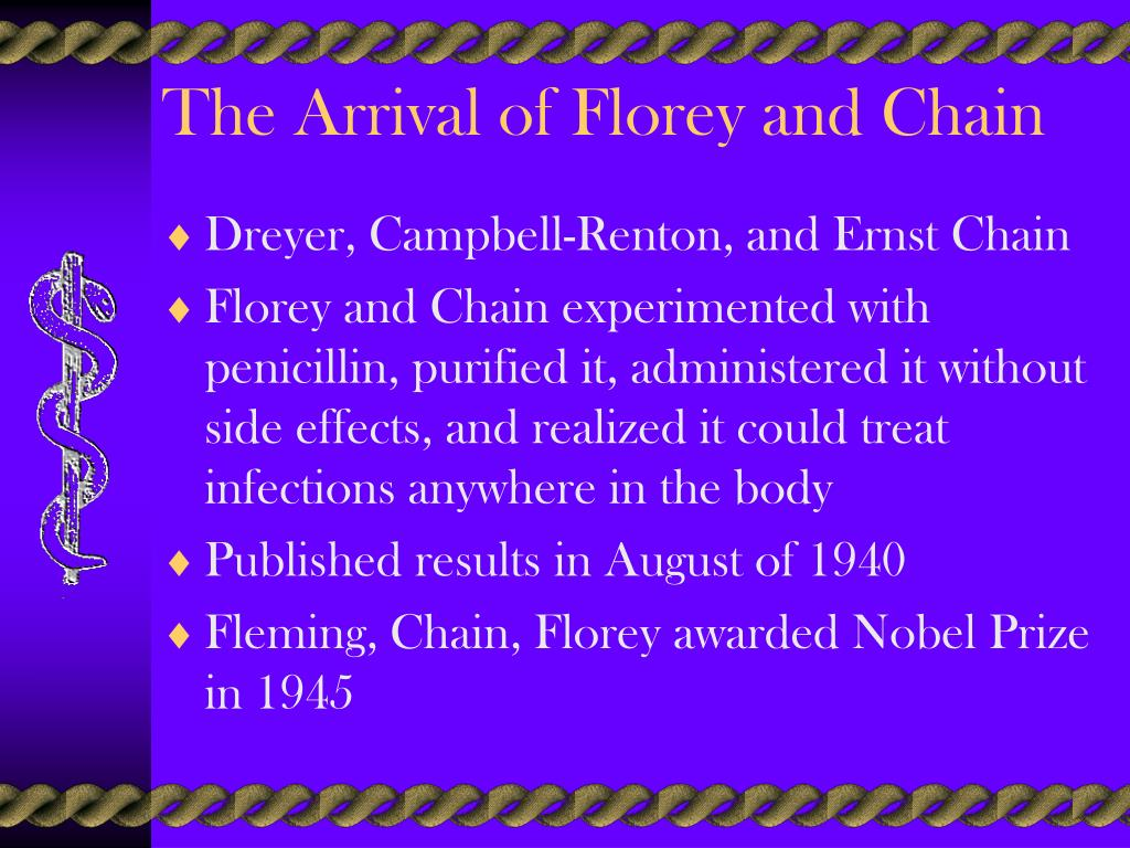 The Arrival of Florey and Chain
