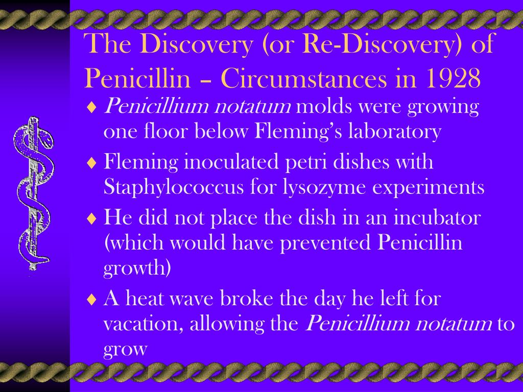The Discovery (or Re-Discovery) of Penicillin – Circumstances in 1928
