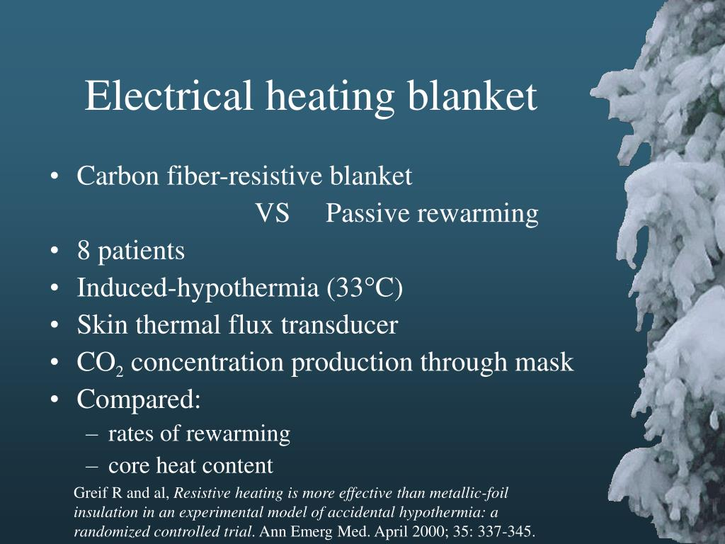 Electrical heating blanket