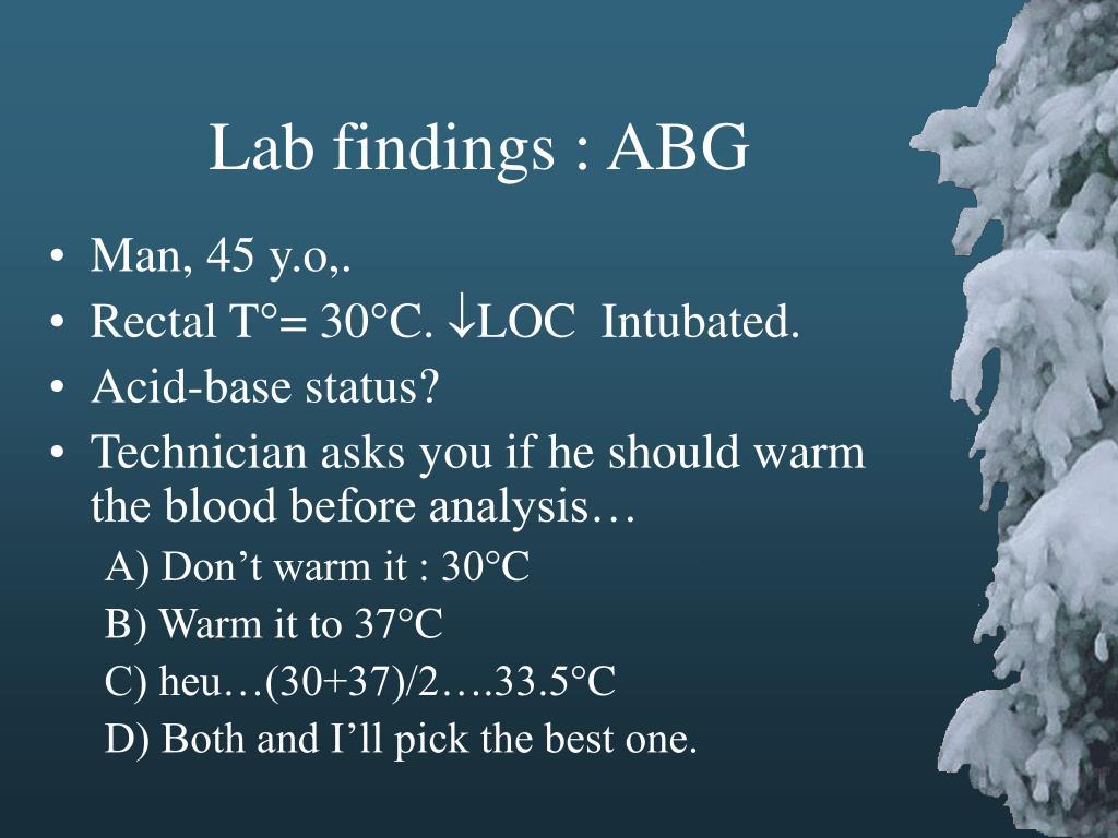 Lab findings : ABG