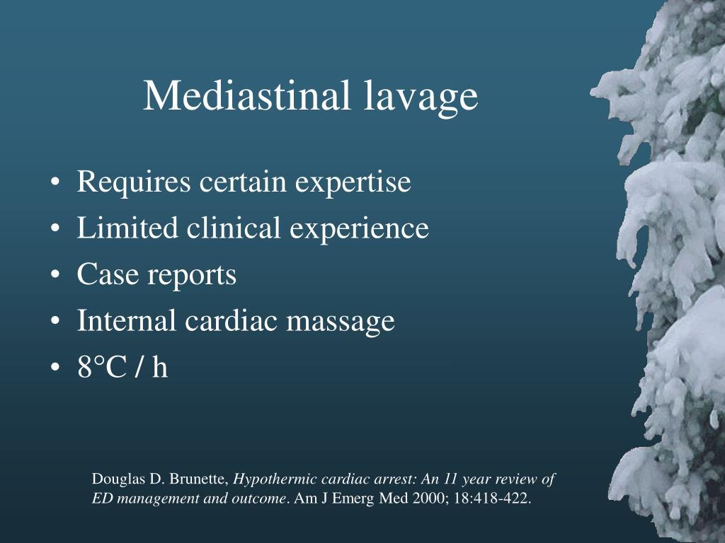 Mediastinal lavage