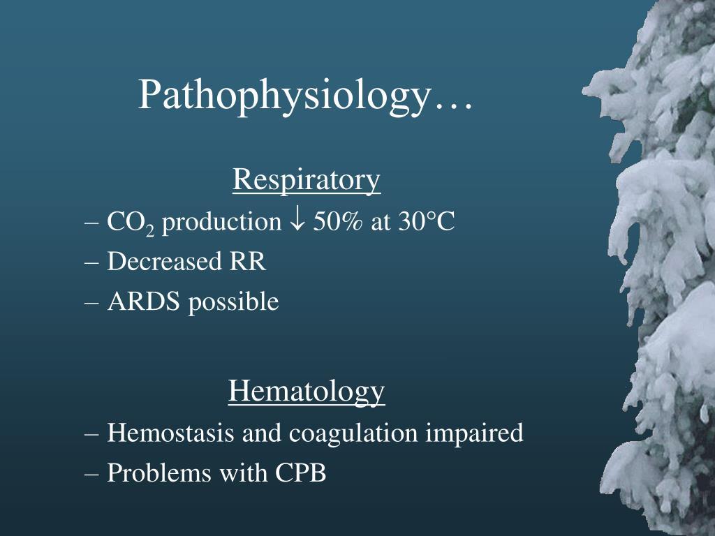 Pathophysiology…