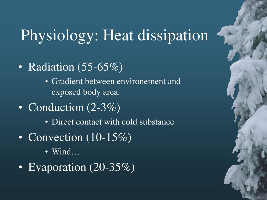 Physiology: Heat dissipation