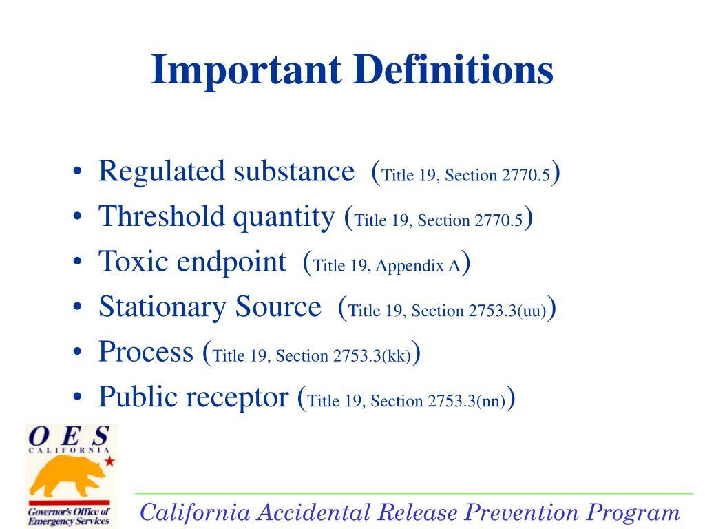 Regulated substance  (