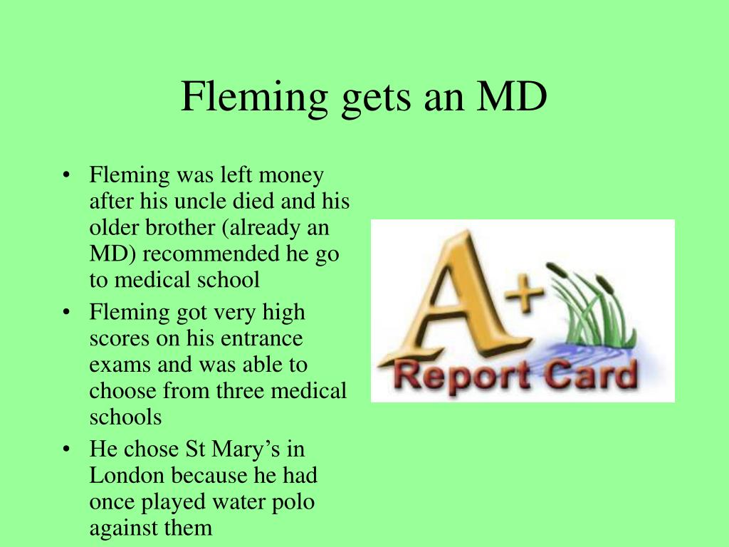 Fleming gets an MD