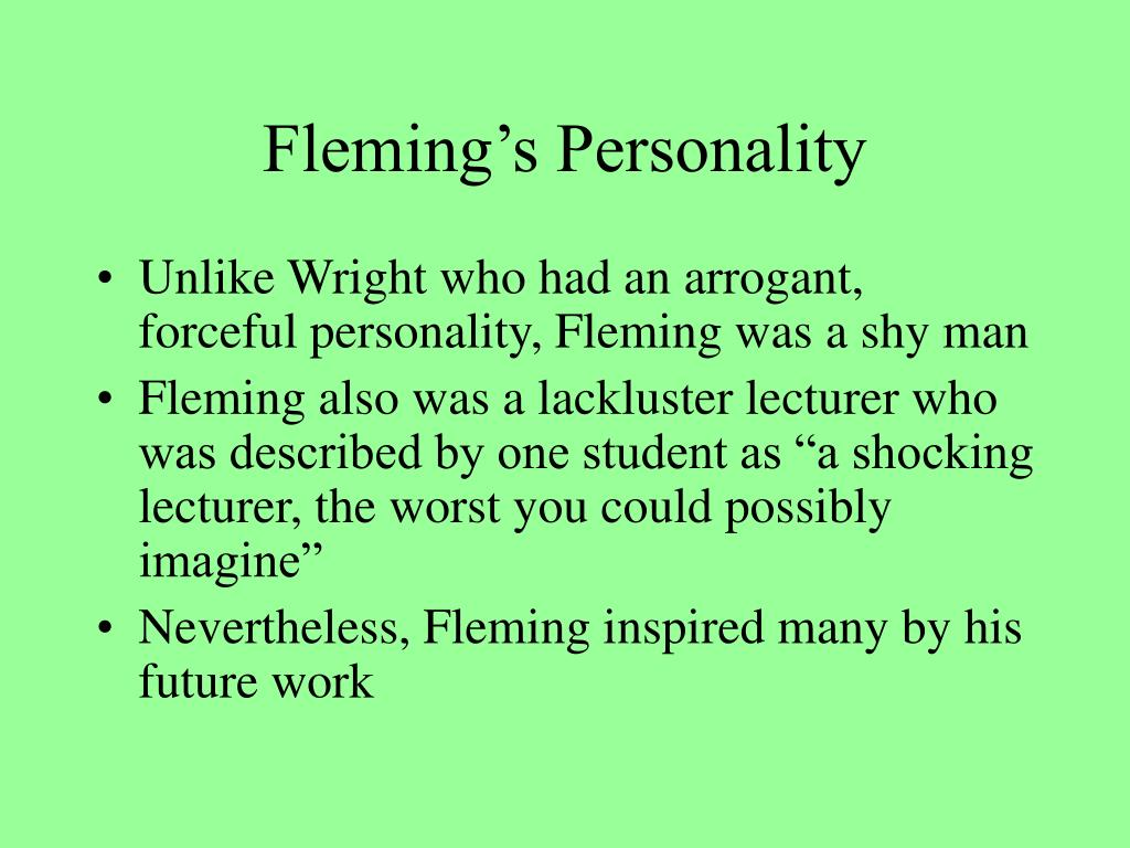 Fleming's Personality