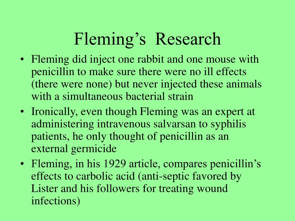 Fleming's  Research