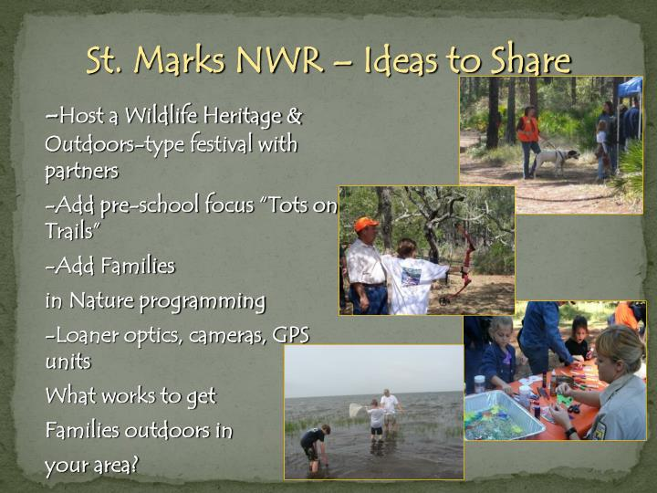 St. Marks NWR – Ideas to Share