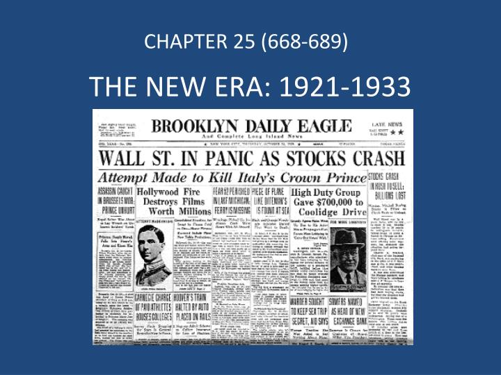 The new era 1921 1933