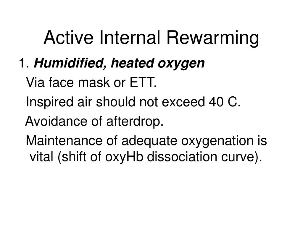 Active Internal Rewarming
