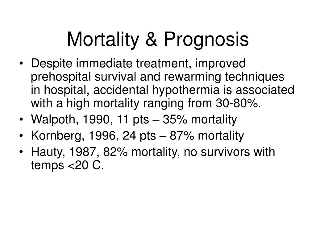 Mortality & Prognosis