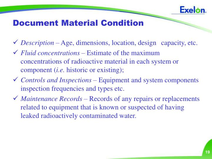 Document Material Condition