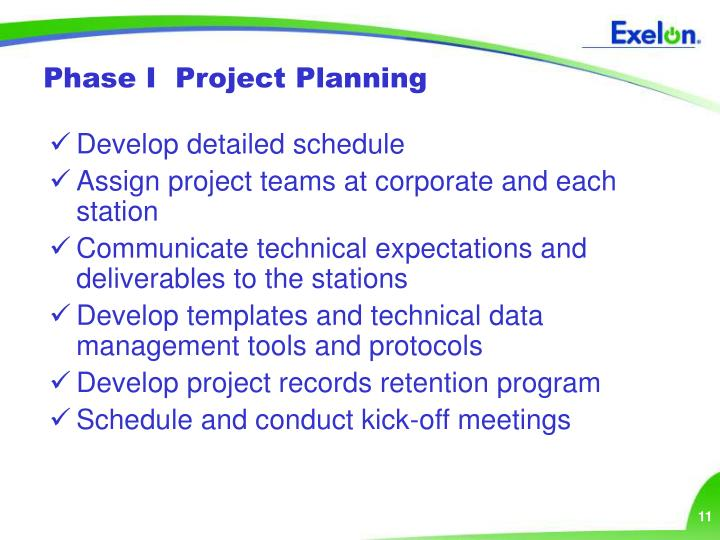 Phase I  Project Planning