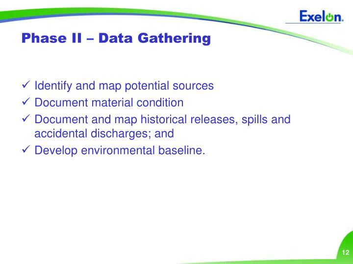 Phase II – Data Gathering