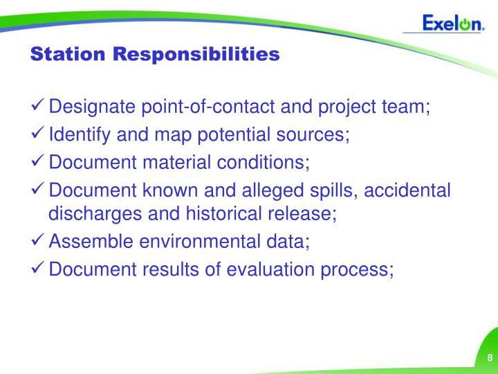 Station Responsibilities