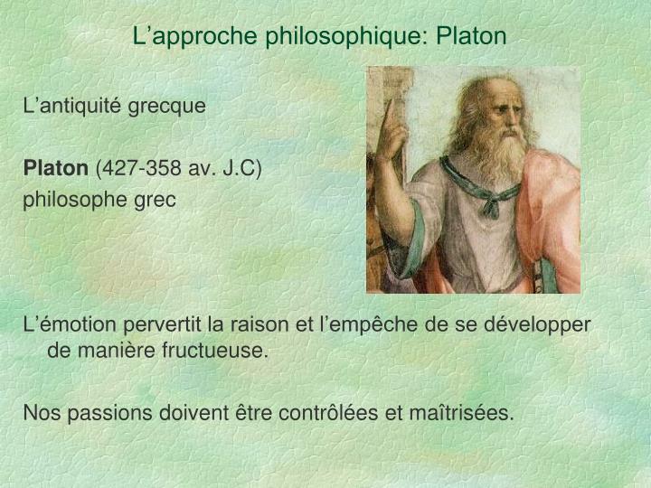 L'approche philosophique: Platon