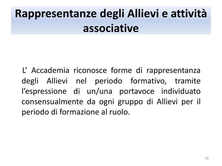 Rappresentanze degli Allievi e attività associative