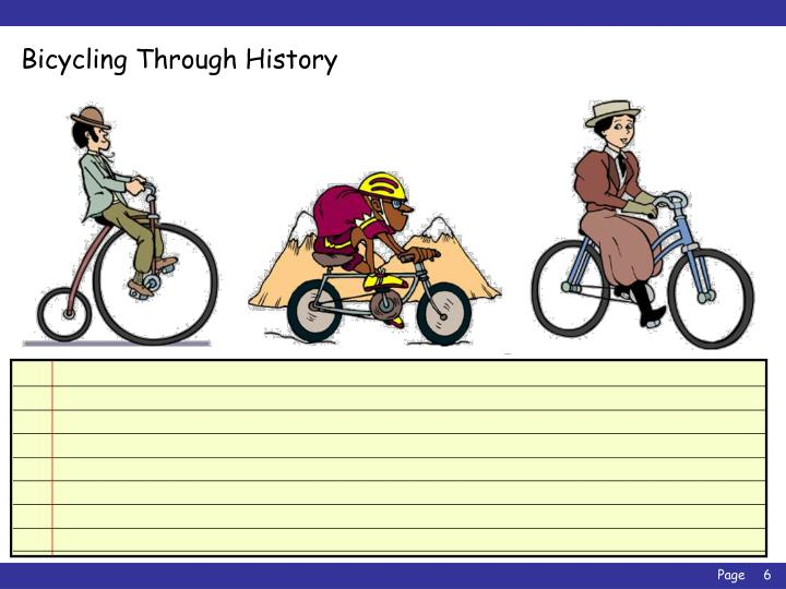 Bicycling Through History