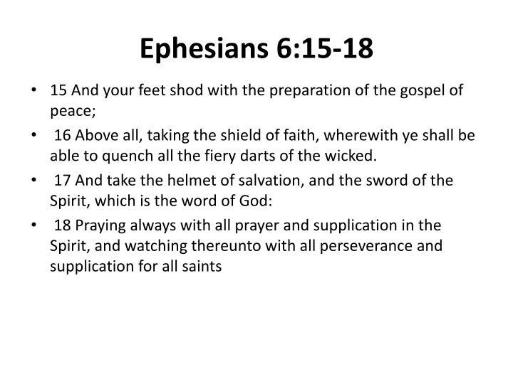 Ephesians 6:15-18