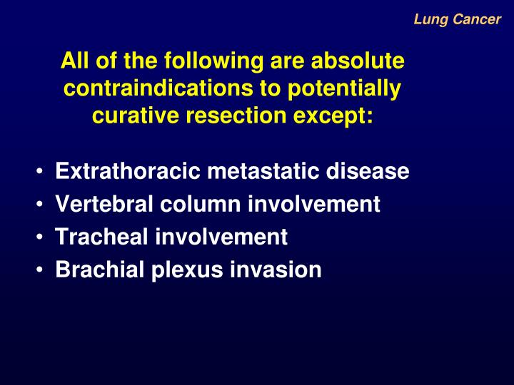 All of the following are absolute contraindications to potentially curative resection except: