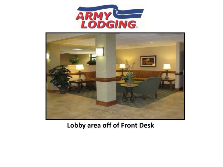 Lobby area off of Front Desk