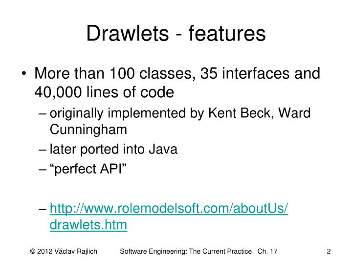 Drawlets features