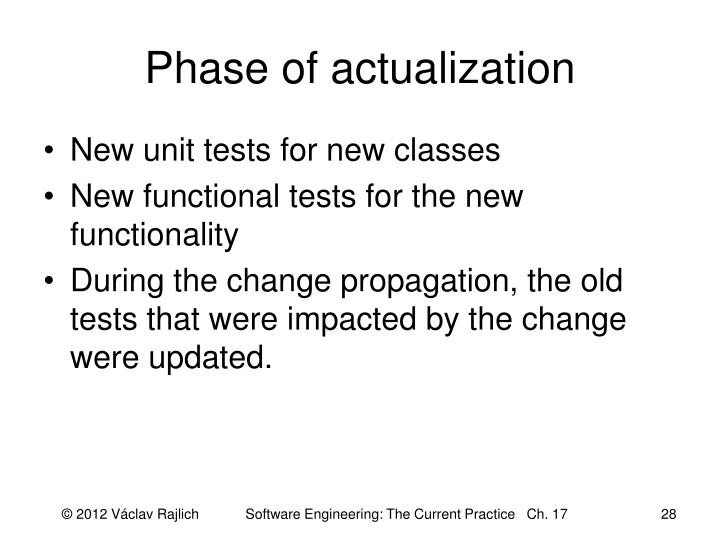 Phase of actualization