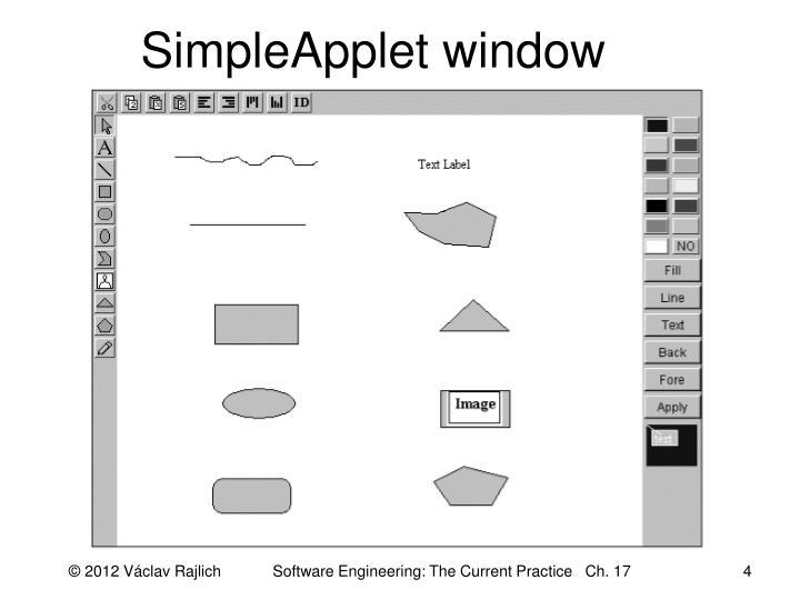 SimpleApplet window