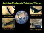 arabian peninsula bodies of water