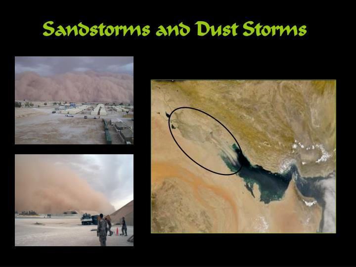 Sandstorms and Dust Storms