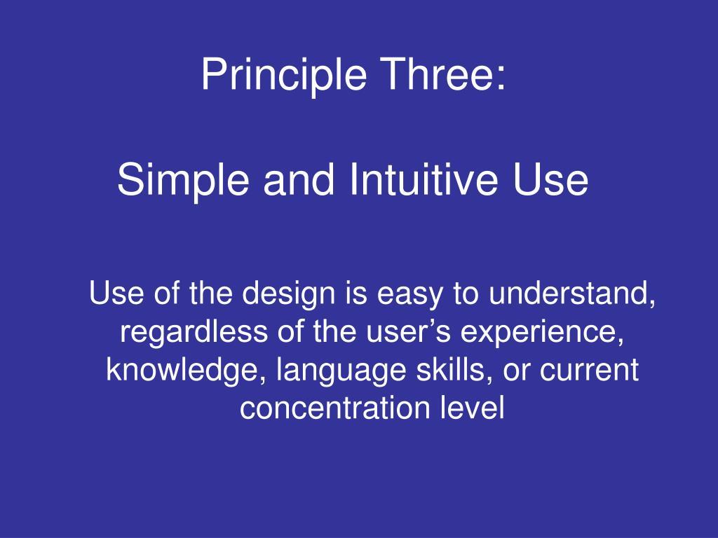 Principle Three: