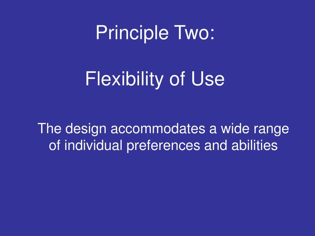 Principle Two: