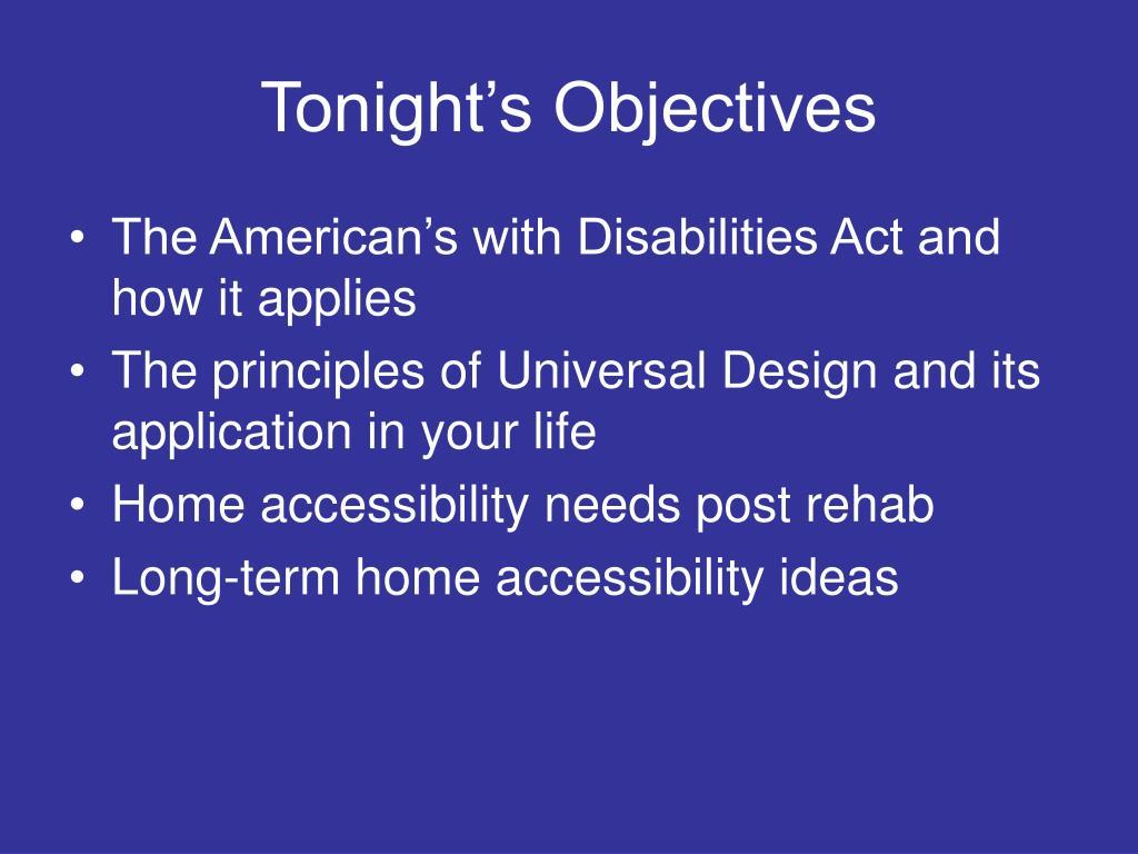 Tonight's Objectives
