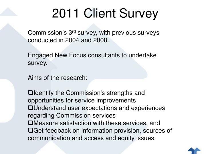 2011 Client Survey