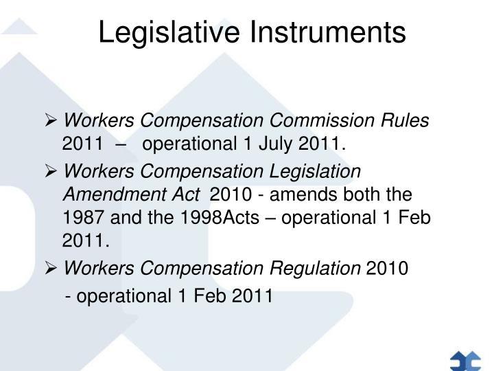 Legislative Instruments