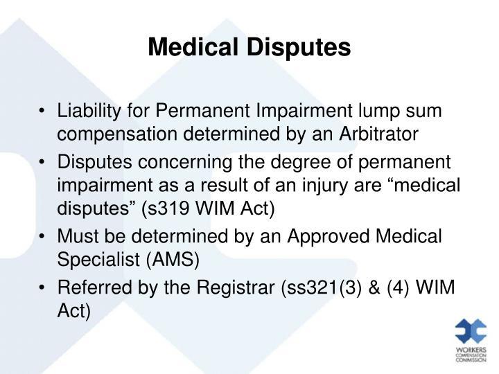 Medical Disputes