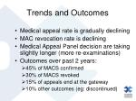 trends and outcomes