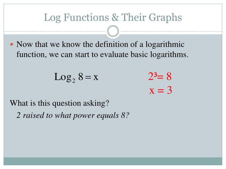 Log Functions & Their Graphs