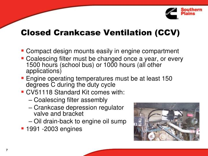 Closed Crankcase Ventilation (CCV)