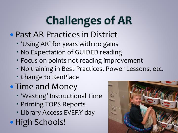 Challenges of AR