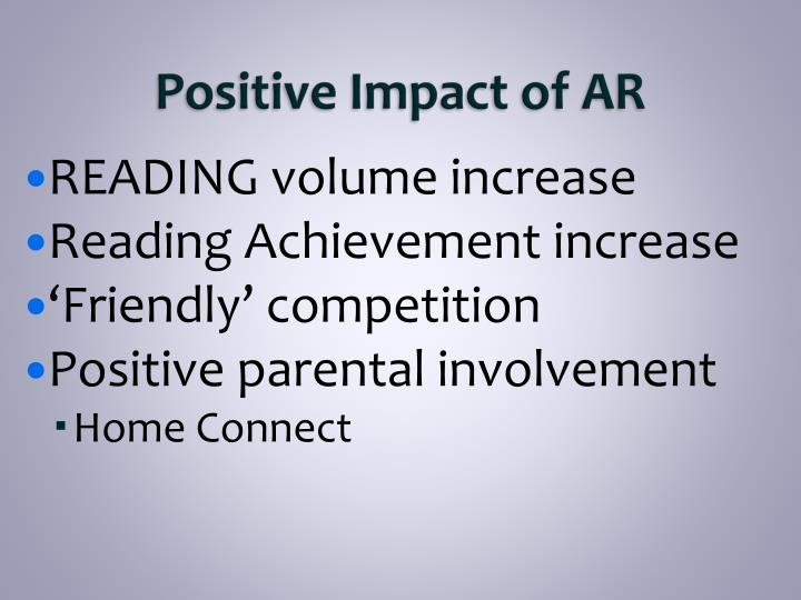 Positive Impact of AR