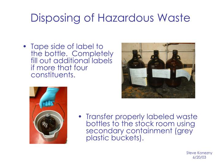 Disposing of Hazardous Waste