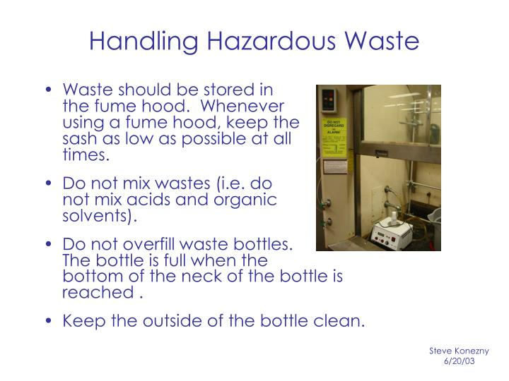 Handling Hazardous Waste