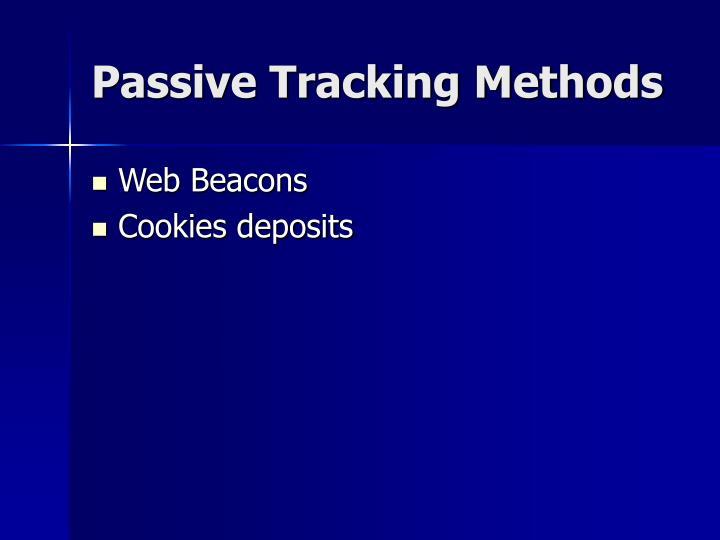 Passive Tracking Methods